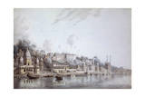 Benares on the Ganges Giclee Print by Hubert Cornish