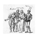 Masque, I.Jones' Costumes Giclee Print by Inigo Jones