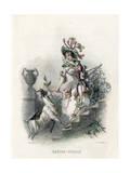 Grandville Honeysuckle Giclee Print by JJ Grandville