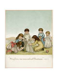 Dollies Wedding Giclee Print by Ida Waugh