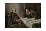 Hindenburg and Ludendorff Giclee Print by Hugo Vogel