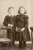 Brother and Sister C.1880S Photographic Print by Henry Bonn