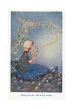 Filling the Air with Fairy Forms Giclee Print by Hilda T. Miller