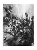 Ordeal for Horses on the Western Front, 1917 Giclee Print by Howard K. Elcock