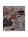 Lesbian Bar, Flowers 1935 Giclee Print by Henry Fournier