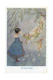 The Fairy Flight Giclee Print by Hilda T. Miller
