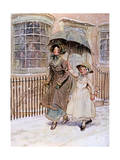 Lady and Her Maid, Street Giclee Print by Hugh Thomson