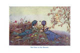The Fairy in the Blossom Giclee Print by Hilda T. Miller