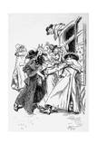 Northanger Abbey, Villain Giclee Print by Hugh Thomson