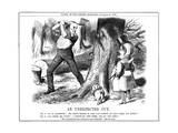Gladstone and the Papacy Giclee Print by John Tenniel