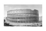 Rome, Colosseum 1855 Giclee Print by JA Levail