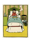 Sick Girl in Bed Giclee Print by John Hassall