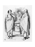 William Gladstone and Benjamin Disraeli and the Stolid Gladstone Giclee Print by John Tenniel