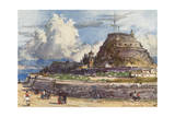 Corfu, Old Fort, West Giclee Print by John Fulleylove