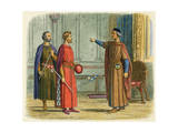 Edward I Threatens Roger Giclee Print by James Doyle