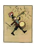 Noisy Musical Boy Premium Giclee Print by John Hassall