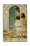 Children, Garden Door 20C Giclee Print by Jessie Willcox-Smith