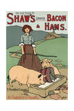 Bacon and Ham Advert Giclee Print by John Hassall