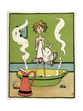 Boy Bathing C1900 Premium Giclee Print by John Hassall
