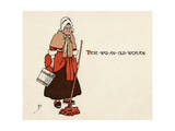 There Was an Old Woman Giclee Print by John Hassall
