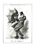 We Gladstone, Umbrella Giclee Print by John Tenniel