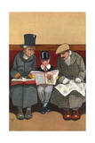 Reading Boy's Own Paper Giclee Print by John Hassall