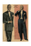 Eveing Dress Men 19512 Giclee Print by Jean Choiselat