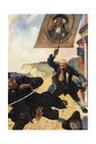 Treasure Isle, Black Dog Giclee Print by John Cameron