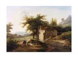 Italianate Landscape Giclee Print by Jean Victor Bertin