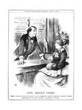 Disraeli, Civil Service Giclee Print by John Tenniel
