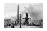 Paris, France - Place de La Concorde Giclee Print by J.b. Allen
