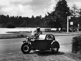 Motorbike and Sidecar Photographic Print by J. Chettlburgh