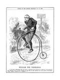 Gladstone as Cyclist Giclee Print by John Tenniel