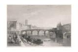 France, Toulouse, Bridge Giclee Print by J. Tingle
