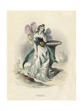 Grandville Pansy 1847 Giclee Print by JJ Grandville