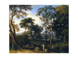 Classical Wooded Landscape Giclee Print by Johannes Glauber