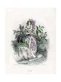 Grandville Lilac 1847 Giclee Print by JJ Grandville