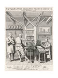 Dutch Print Office 1628 Giclee Print by Jan Van Der Velde
