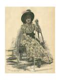 Sarah Bernhardt Premium Giclee Print by Jan van Beers