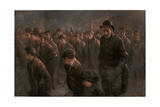 Crowd, Unemployed 1912 Giclee Print by John Hassall