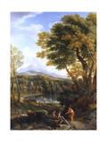 Classical Landscape Premium Giclee Print by Jan Frans van Bloemen