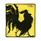 Silhouetted Cock Giclee Print by Jacques Nam