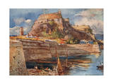 Corfu, Old Fort, South Giclee Print by John Fulleylove