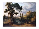 Capriccio Landscape Giclee Print by Jean Victor Bertin
