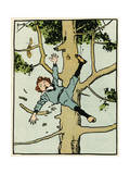 Boy Falls from a Tree Premium Giclee Print by John Hassall
