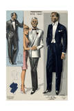 Men's Eveing Dress 1967 Giclee Print by Jean Choiselet