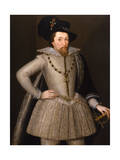 Portrait of King James I Giclee Print by John De Critz The Elder