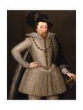 Portrait of King James I Premium Giclee Print by John De Critz The Elder