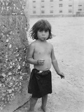 Little Girl Street Urchin - Naples Photographic Print by Jean Finzi