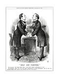 William Gladstone as Twins Giclee Print by John Tenniel